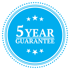Five Year Guarantee.